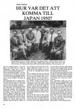 Hur var det att komma till Japan 1950?